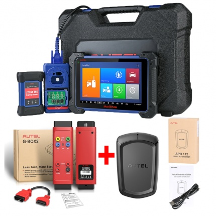Autel MaxiIM IM608 Diagnostic Key Programming ECU Coding Tool PLUS APB112 Smart Key Simulator and G-BOX 2 Tool