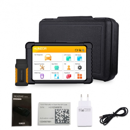 Humzor NexzDAS Pro Full System Auto Diagnostic Tool Professional OBD2 Scanner with IMMO/ABS/EPB/SAS/DPF/Oil Reset