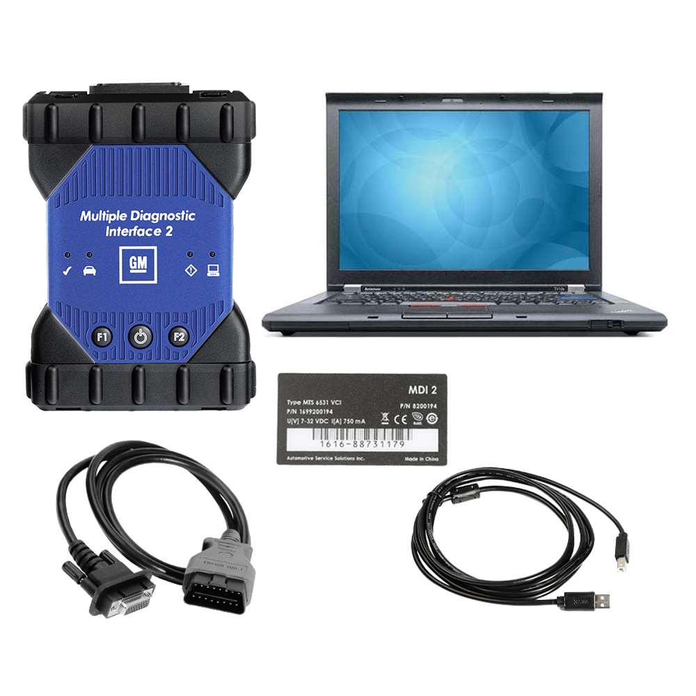 V2020.09 High Quality GM MDI 2 GM MDI2 Scan tool Support WIFI Plus  Lenovo T410 Laptop Full Set Ready To Use