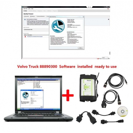 Volvo Truck 88890300 Communication Unit with Software PPT Installed on Lenovo T420 Laptop Ready to Use