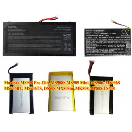 Autel Battery for Autel Maxisys Elite MS908 MS908S PRO MS908CV MS906TS MS906BT TS608 DS808 MX808IM MK808 MP808