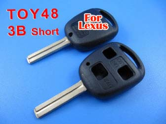 Lexus remote key shell 3 button TOY48 (short)
