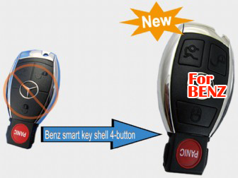 2010 Benz smart key shell 4 button (with the board plastic)