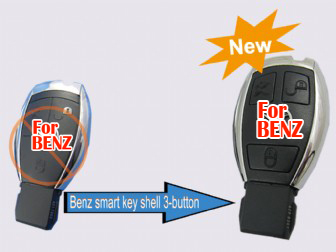 2010 Benz smart key shell 3 button (with the board plastic)