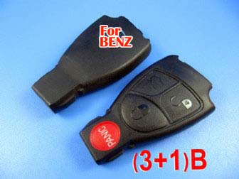 Benz smart key shell 4-button without the plastic board