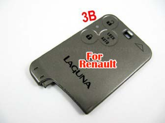 Renault smart card shell 3 button