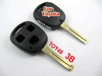 Toyota key shell 3 button toy48-without the words