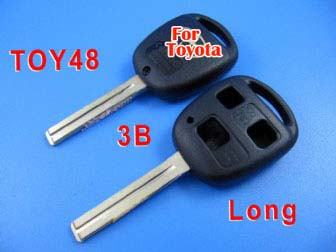 toyota remote key shell 3 button toy48-long