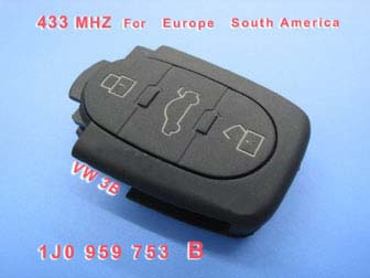 VW 3B Remote 1 JO 959 753 B 433Mhz For Europe South America