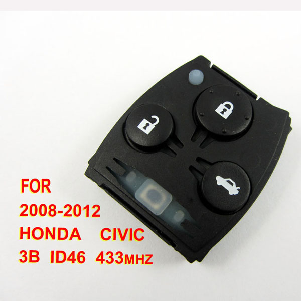 Honda Civic remote 433mhz ID46 3 button (2008-2012)for Europe, Malaysia