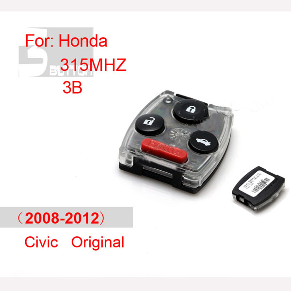 Original Honda Civic remote 315mhz ID46 4 button (2008-2012)