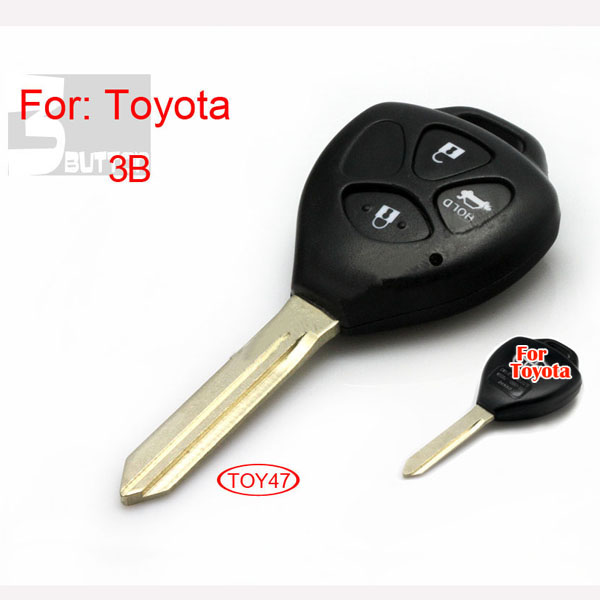 Toyota TOY47 remote key shell 3 button