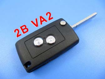 citroen remote key shell 2 button ( 307 without groove)