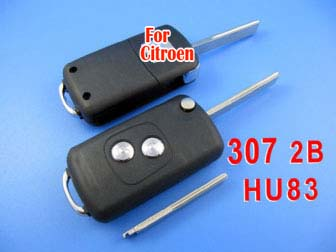 citroen remote key shell 2 button ( 307 with groove)