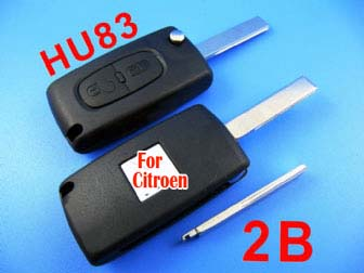 citroen remote key 2 button 433MHZ( with groove)