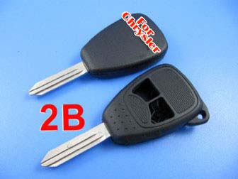 Chrysler remote key shell 2 button