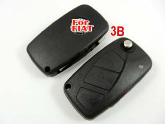 Fiat flip remote key shell 3 button black color
