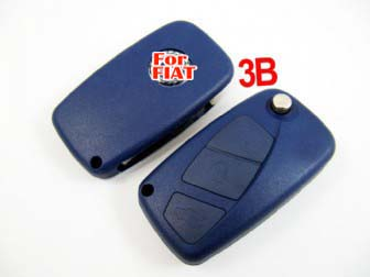 Fiat flip remote key shell 3 button