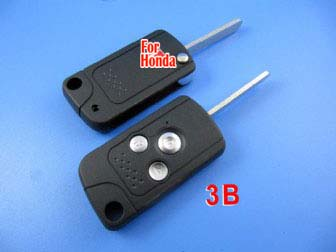 honda flip remote key shell 3 button