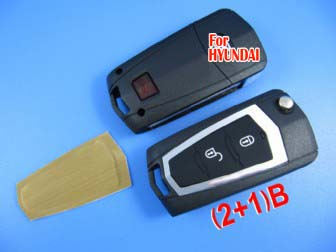 Hyundai Tucson modified remote flip key shell 2+1 button