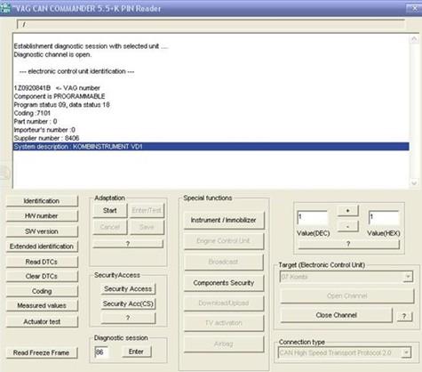 US$25 00 VAG CAN COMMANDER 5 5 + PINReader 3 9 Beta on Sale
