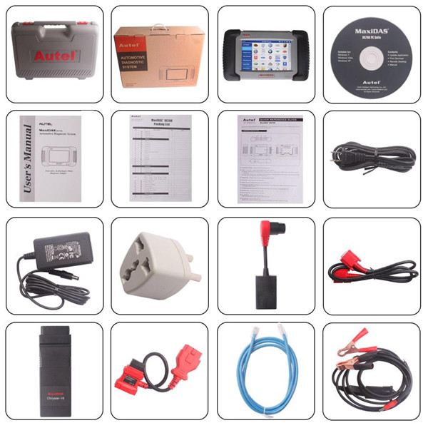 Autel Maxidas DS708 Package List
