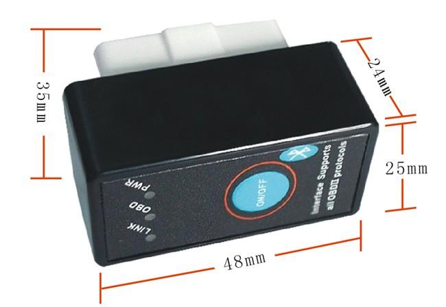 elm327 bluetooth obd2 can bus scanner tool v2 1 with. Black Bedroom Furniture Sets. Home Design Ideas