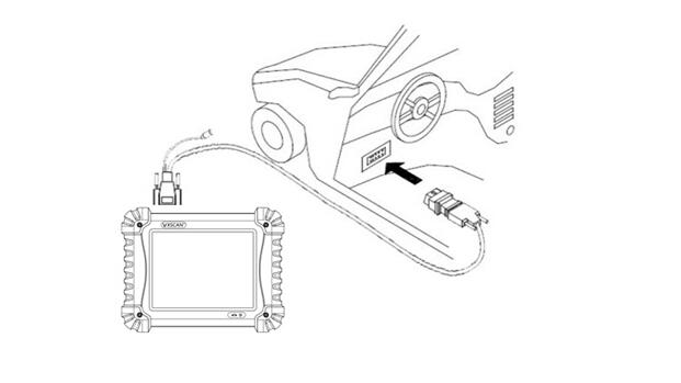 vxscan c8 gasoline automotive diagnostic tool with one