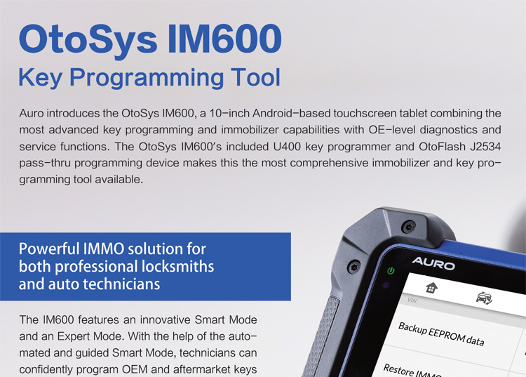 US$3,250 00 Auro OtoSys IM600 Diagnostic Key Programming and