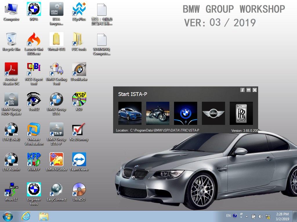 BMW ICOM NEXT A+B+C with 2019 03V Software Plus EVG7 4GB Diagnostic